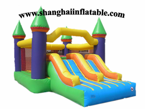 Commercial inflatable bouncer,bounce house with slide(China (Mainland))