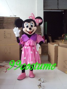 Free Shipping Adult Size Pink Skirt Minnie Mouse Cartoon Cosplay Mascot Costume Cosplay Christmas Hallowmas Party Dress