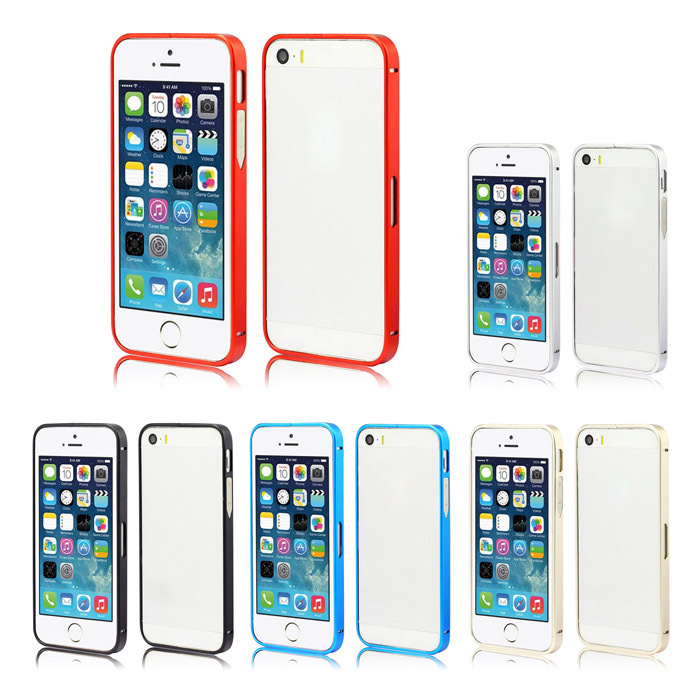 Free shipping~Bumper Luxury Aluminum Metal Cell Phone Protective frame case For Apple iPhone4 4s 5 5s 5g Cases(China (Mainland))