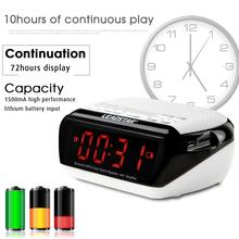 Portable Wireless Mini Multifunctional Smart Desktop Bluetooth Speaker Clock Amplifier FM Radio Time Display TF Card