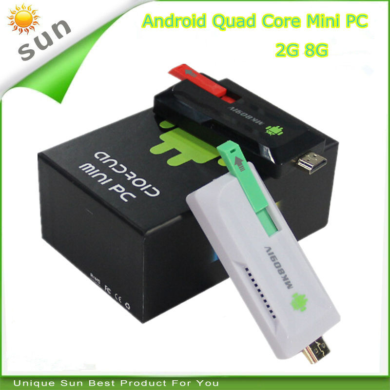 Smart tv dongle mini pc android tv stick quad core 2G 8G media player home theater support XBMC youtube google store email(China (Mainland))