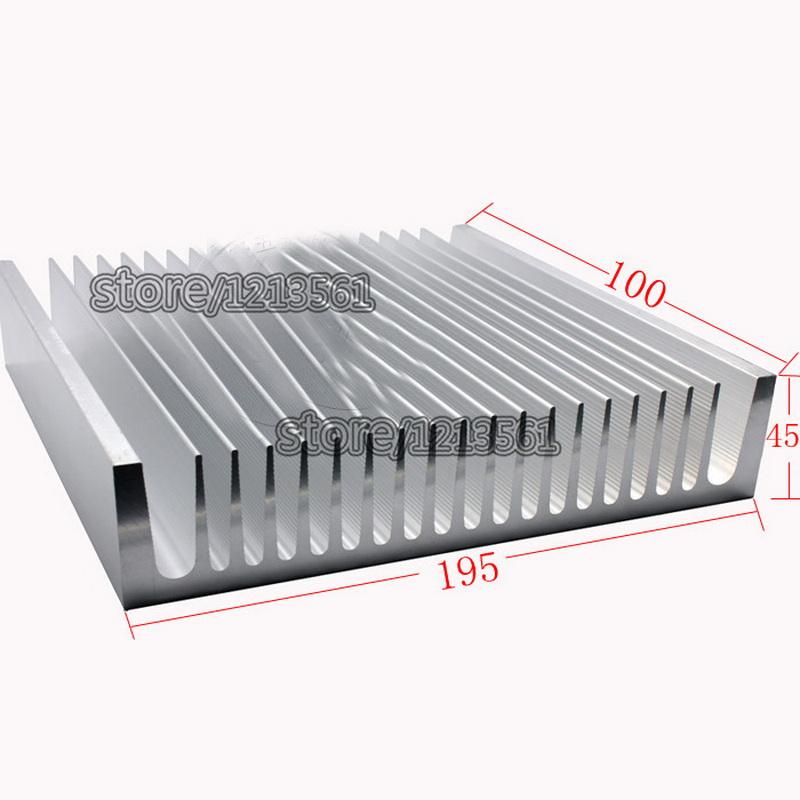 Aluminum/Aluminum radiator/Heatsink High-power heat sink Aluminum Radiator 100*195*45mm white customize(China (Mainland))