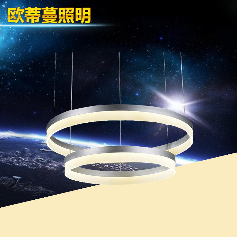 pendant lights The new LED ring modern living room dining bedroom new artistic Promise dimming pendant lamp led lamp(China (Mainland))