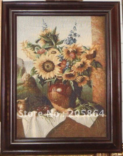 FREE SHIPPING small sizes still life gobelin pictures for furniture,decoration picture frame(China (Mainland))