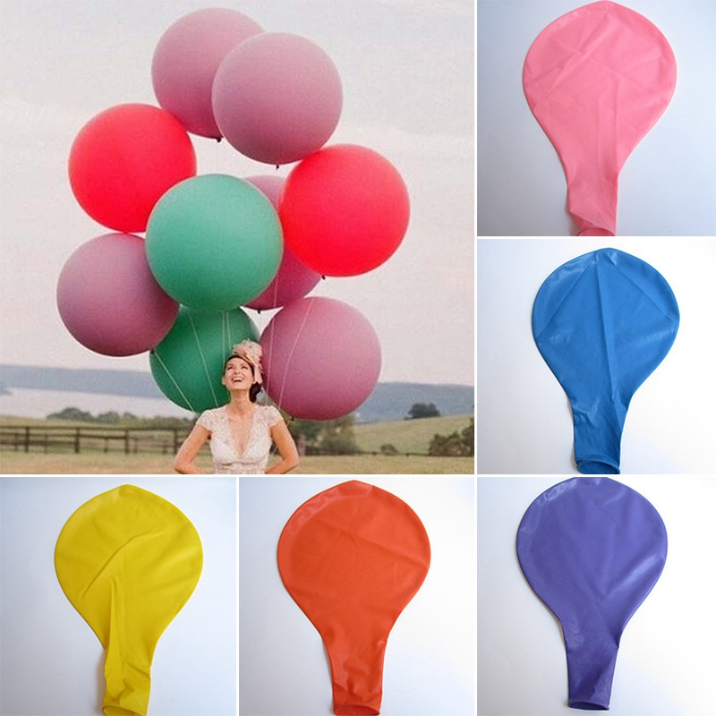 2016 Colorful Blow up 36 Inches Ball Balloon Big Latex Balloons For a Birthday Party Decoration(China (Mainland))