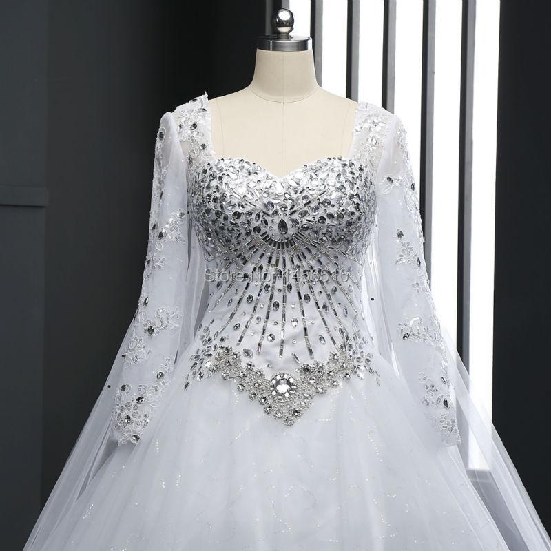 Top Luxury Wedding Dress : Top crystal luxury wedding dress bridal gown dresses long