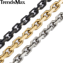 Buy Trendsmax 9mm Gold-color CABLE Link Stainless Steel Necklace Mens Chain Boys Wholesale Dropship Jewelry KNM53 for $7.57 in AliExpress store