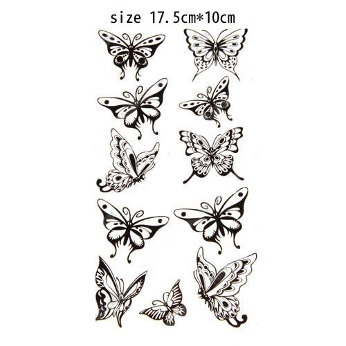 mix order 10pcs lot free butterfly tattoo designs waterproof temporary tattoo wholesale body arm. Black Bedroom Furniture Sets. Home Design Ideas