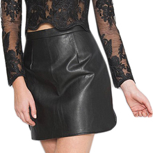 Buy New 2017 Spring Sexy PU Leather Skirt Fashion American Apparel High Waist Mini Skirt Side Split Zip Black Pencil Skirts Womens for $9.81 in AliExpress store