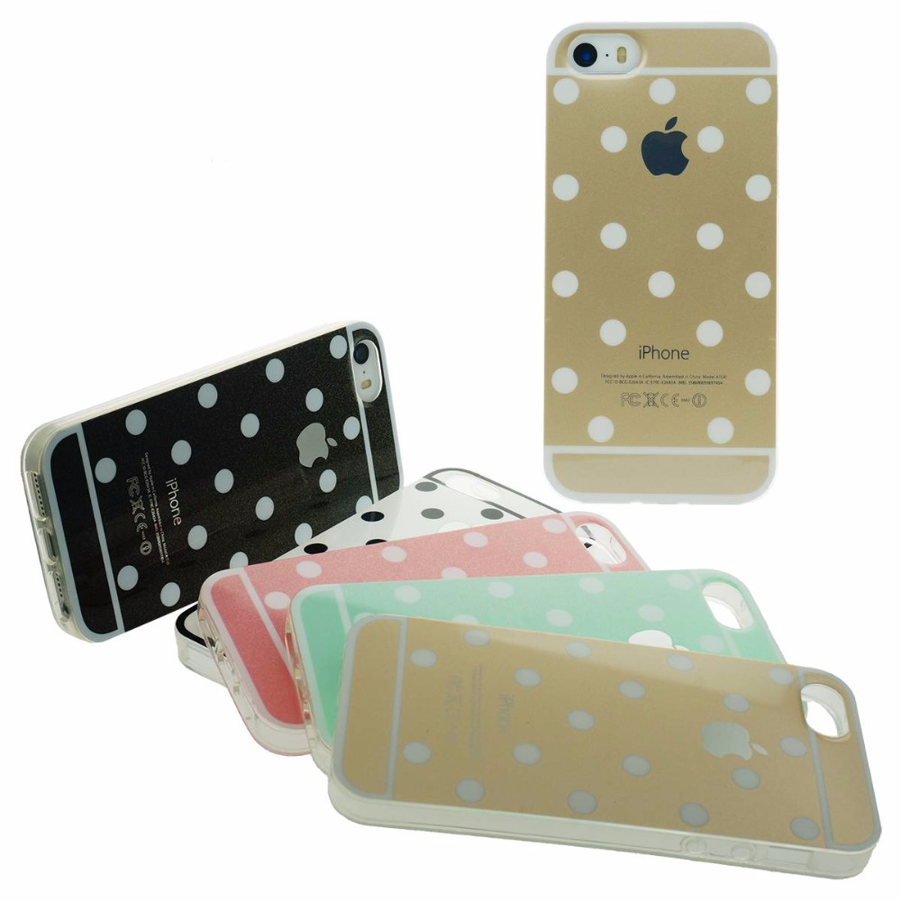 Point Style Glitter Soft Back Cover Cases Fashion Slim Anti-Shock Flash Dots Gel Silicon Case For Apple iPhone 5 5S Cellular(China (Mainland))