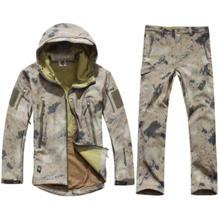 Men Military Tactical Jackets Outdoor Waterproof Army Sports Camouflage Hunting Camping Hiking Thermal Fleece Lining Coat(China (Mainland))