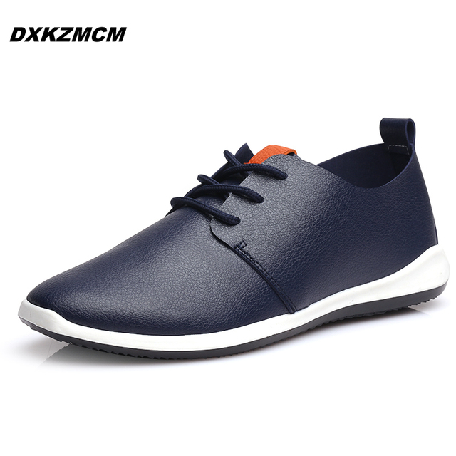 2016 новый ручной мужской обуви свободного покроя искусственная кожа мужчины квартиры ...