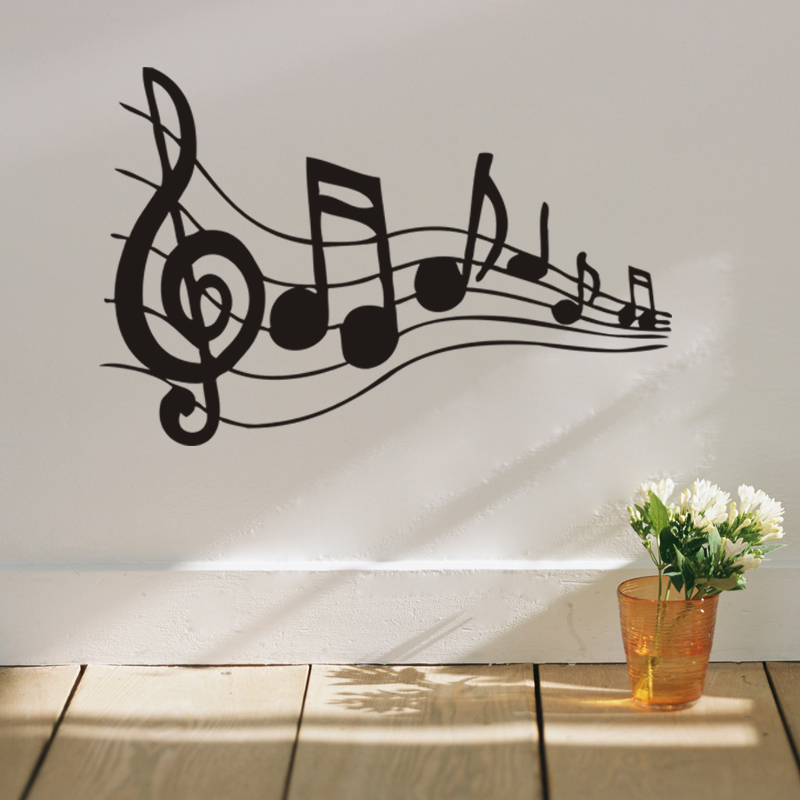 Buy black music note decorative wall stickers home decor music education Home decor survivor 6