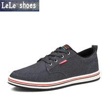 2016 New arrival Men Casual Shoes Men's Fashion Flats Comfortable Men Denim Leather shoes students shoes blue gray yeezy shoes(China (Mainland))