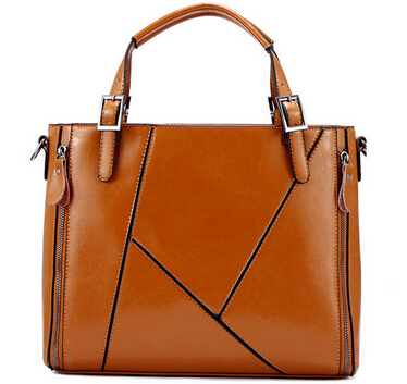 NO.1 NEW 2015 Women Messenger bags Fashion Genuine Leather Handbag Retro Famous Brand Handbag OL Women Luxury Brand Bags HN02