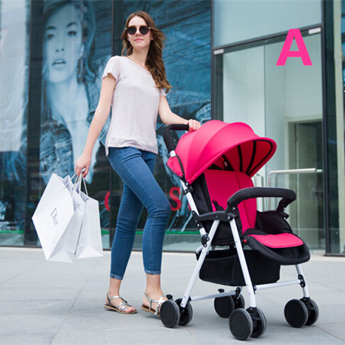 2015 New Arrival Baby Stroller With Big Underbag Children Pushchair Good Quality &amp; Low Price Baby Trends In Red,Beige,Blue,Pink <br><br>Aliexpress