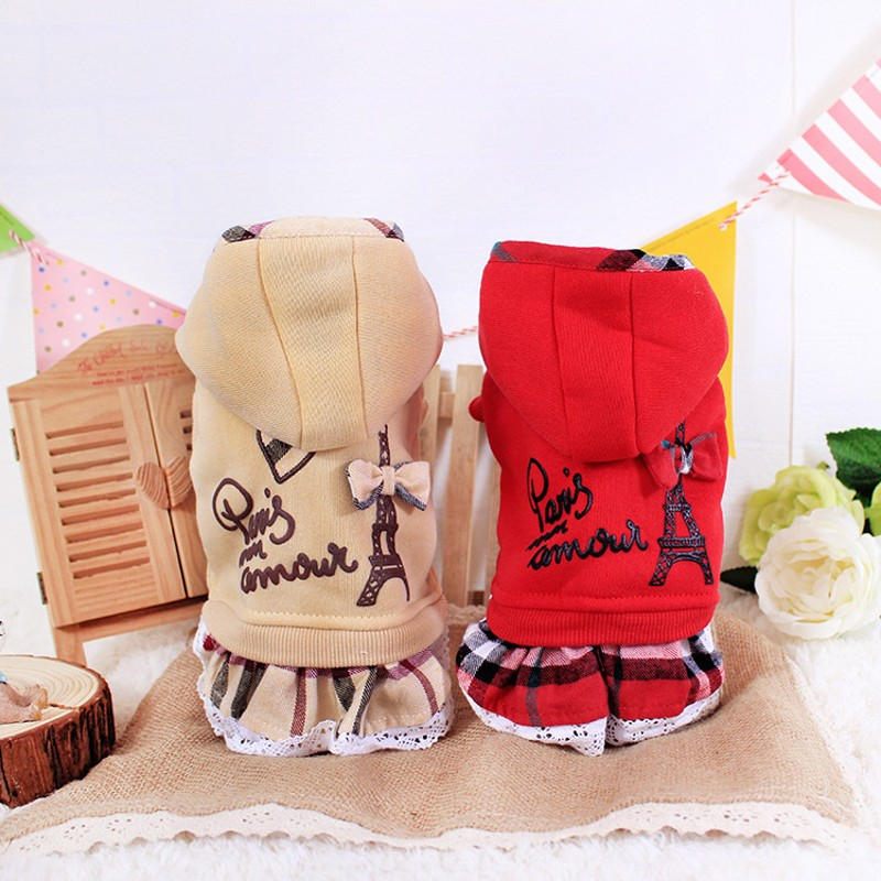 High quality autumn winter pet dog cotton clothes warm clothing cute
