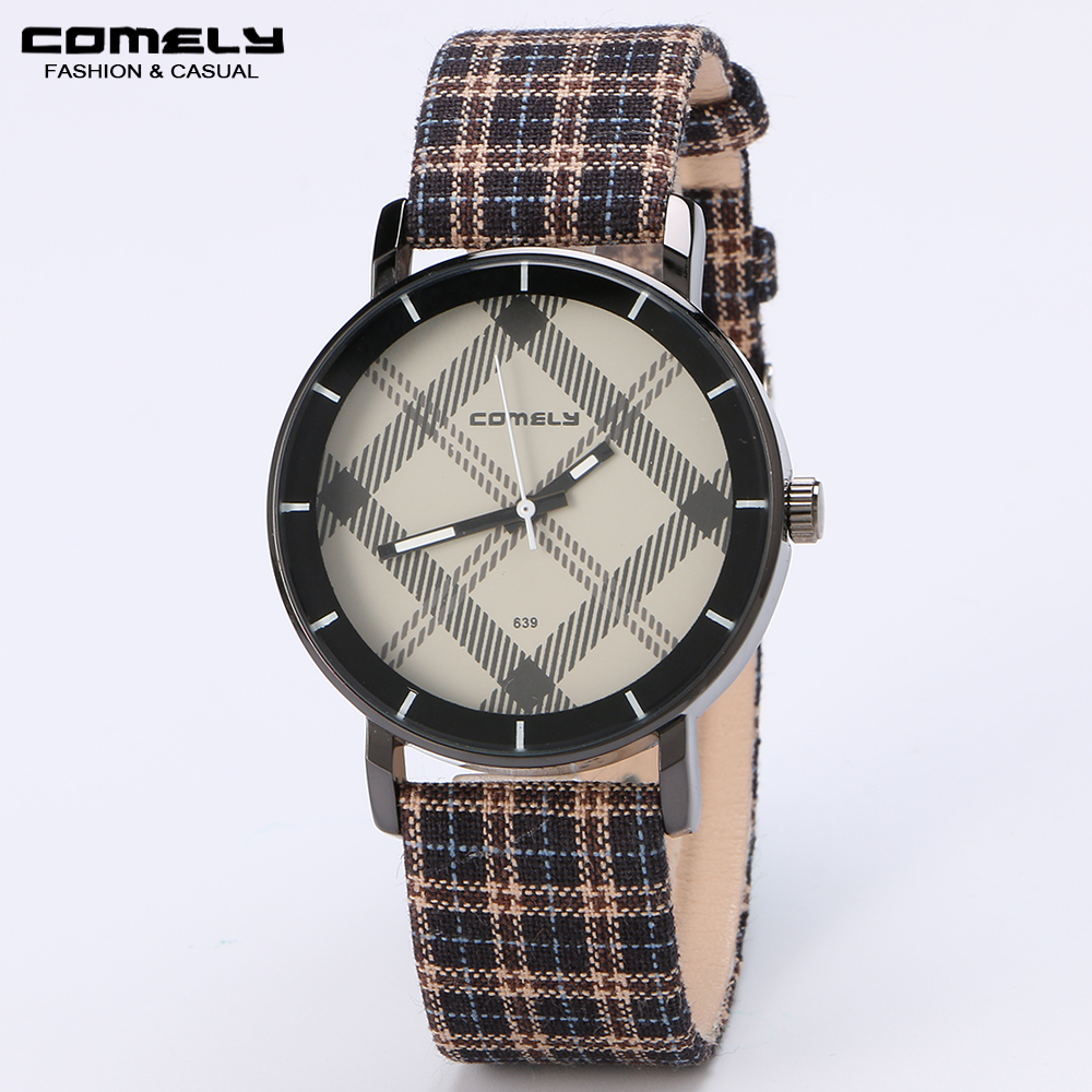 COMELY Men's classic watches Wove leather strap brand watches fashion multicolor casual sports watch students gift watch clock(China (Mainland))