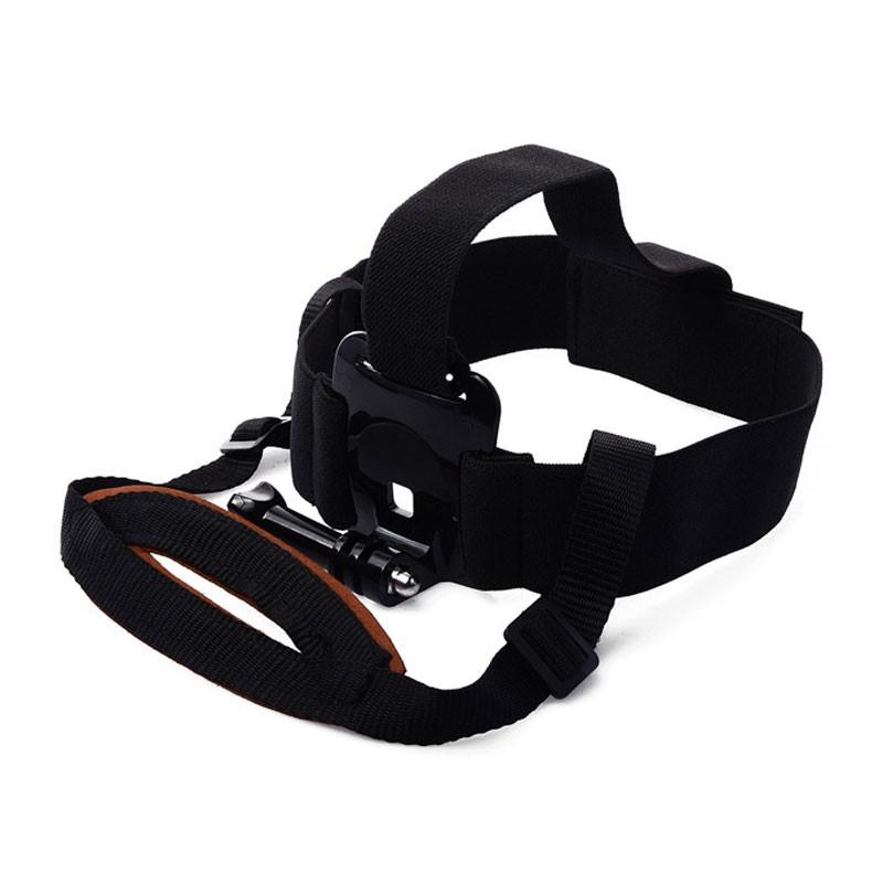 Elastic Adjustable Nylon Fixed Head Harness Mount Belt with Chin Strap for GoPro Hero HD 4 3+ 3 2 xiaomi yi 2 SJcam accessories
