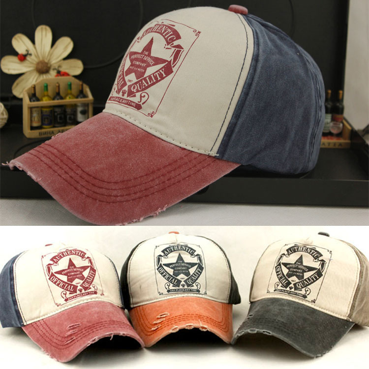 Fashion Hot Adjustable Snapback Baseball Cap Outdoor Sport Pentagram Letter Washed Denim Cowboy Jean Hat Fitted Chapeu Casquette(China (Mainland))