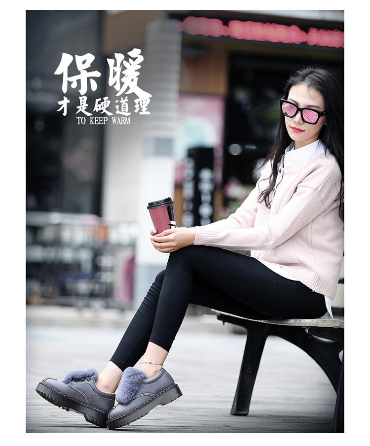 Winter Women Shoes Casual Plush Warm Women Loafers Slip On Black Blue Green Pink