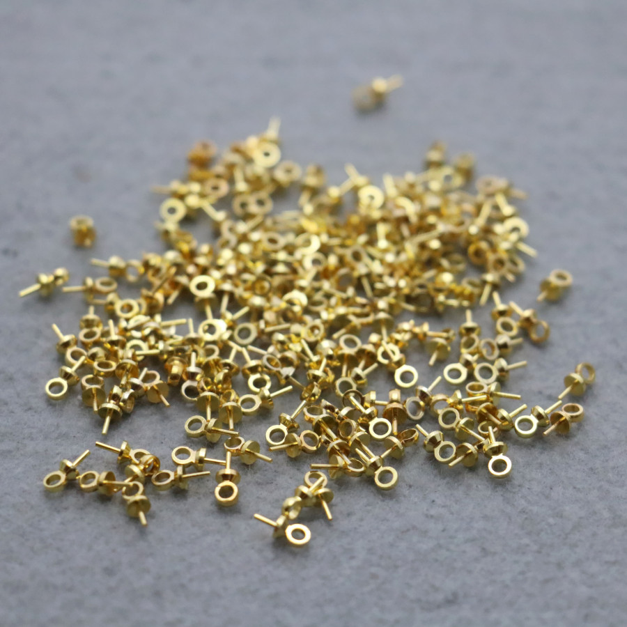 10PCS Hardware DIY Gold-plated Fittings for Accessory Earplugs Metal Boutique Accessory buttons snaps jewelry Making Design(China (Mainland))