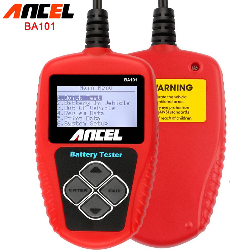 Auto Battery Tester Ancel BA101 Automotive 12V Vehicle Battery Tester BA101 Car Battery Analyzer Free Shipping(China (Mainland))