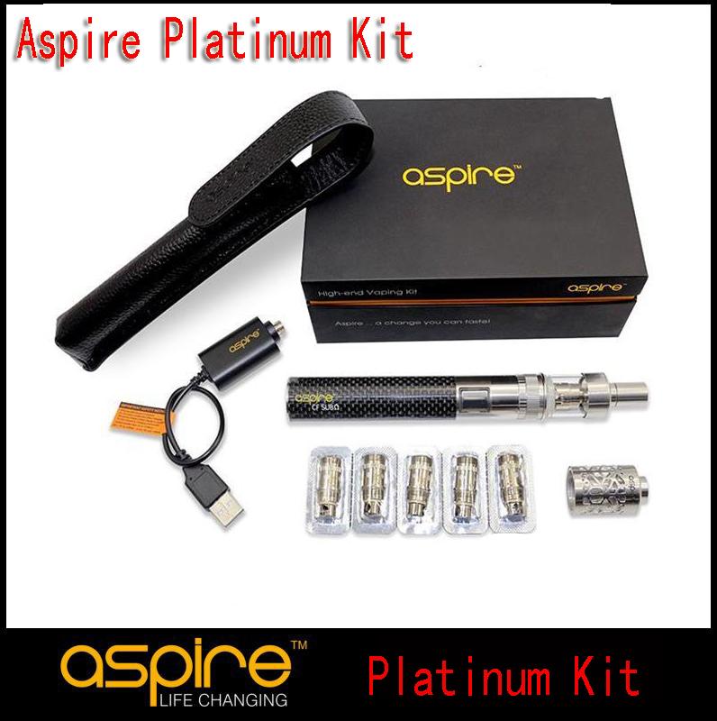 100% Original Aspire Platinum Kit 2ML Atlantis Tank Aspire CF Sub oHm Battery 2000mah Best E Cig Starter Kit (1set YY)(China (Mainland))