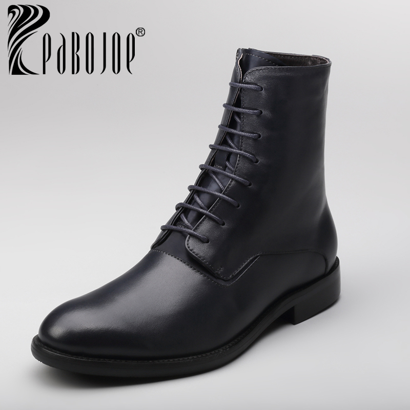 new popular mens leather boots masculinas ankle shoes