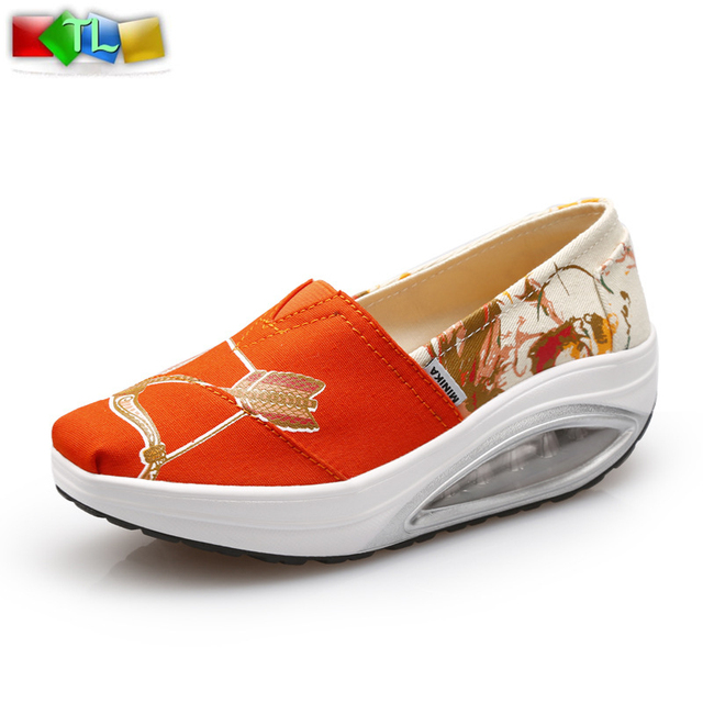 Новый 2016 британский стиль весна осень женщины клин обувь платформа женский свободного ...