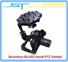 5pcs/lot Free shipping 2014 New DYS Brushless BLG5D Aerial PTZ Gimbal with 3 axis AlexMos Controller Motor for DSLR Cam toy gift