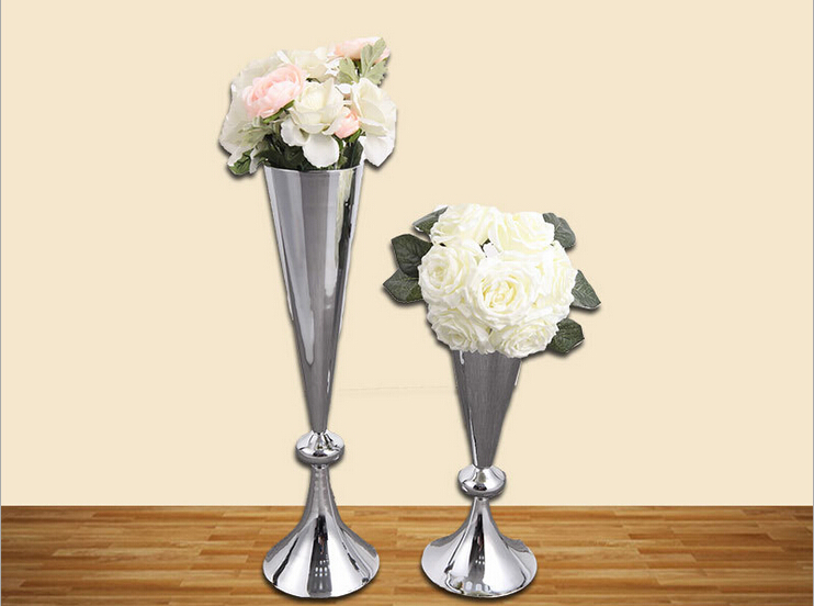 Free shipping factory wholesale European style silver wedding decorative flower vase 1 lot=1 big