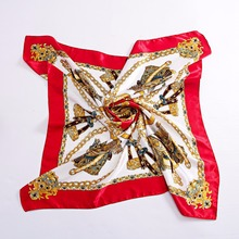 Summer Satin Scarf Women Fashion 90*90cm Square Scarves Designer Beautiful Large Female Ladies - Daylight store