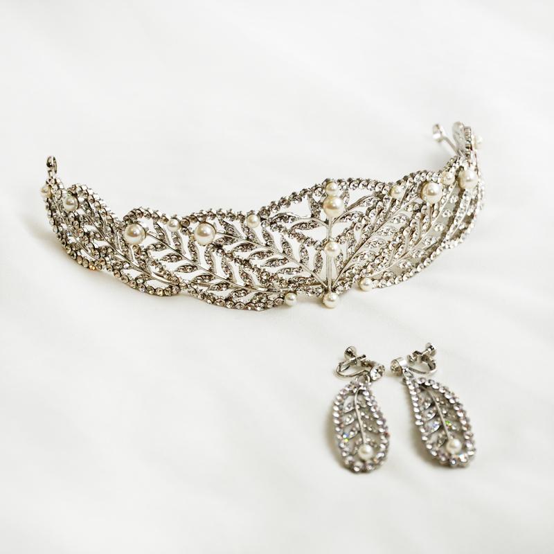 تيجان ملكية  امبراطورية فاخرة 2016-Belle-Epoque-Silver-Plated-Chic-Royal-Queen-Regal-Leaf-font-b-Rhinestones-b-font-font