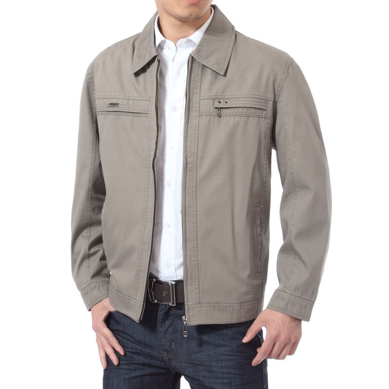 2015 spring new middle aged men's casual jackets simple ...