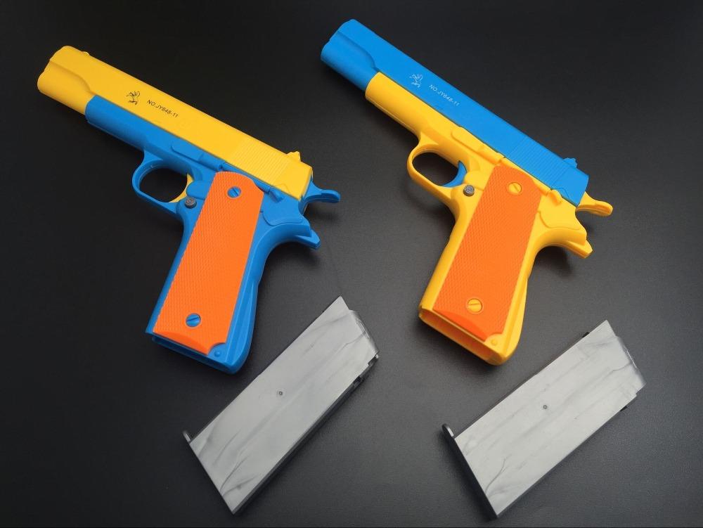 2016 M1911 magazine pistol gun toy pistol toy Soft Bullet Gun nerf pistol shooter with 10 bullets promotion price free shipping(China (Mainland))