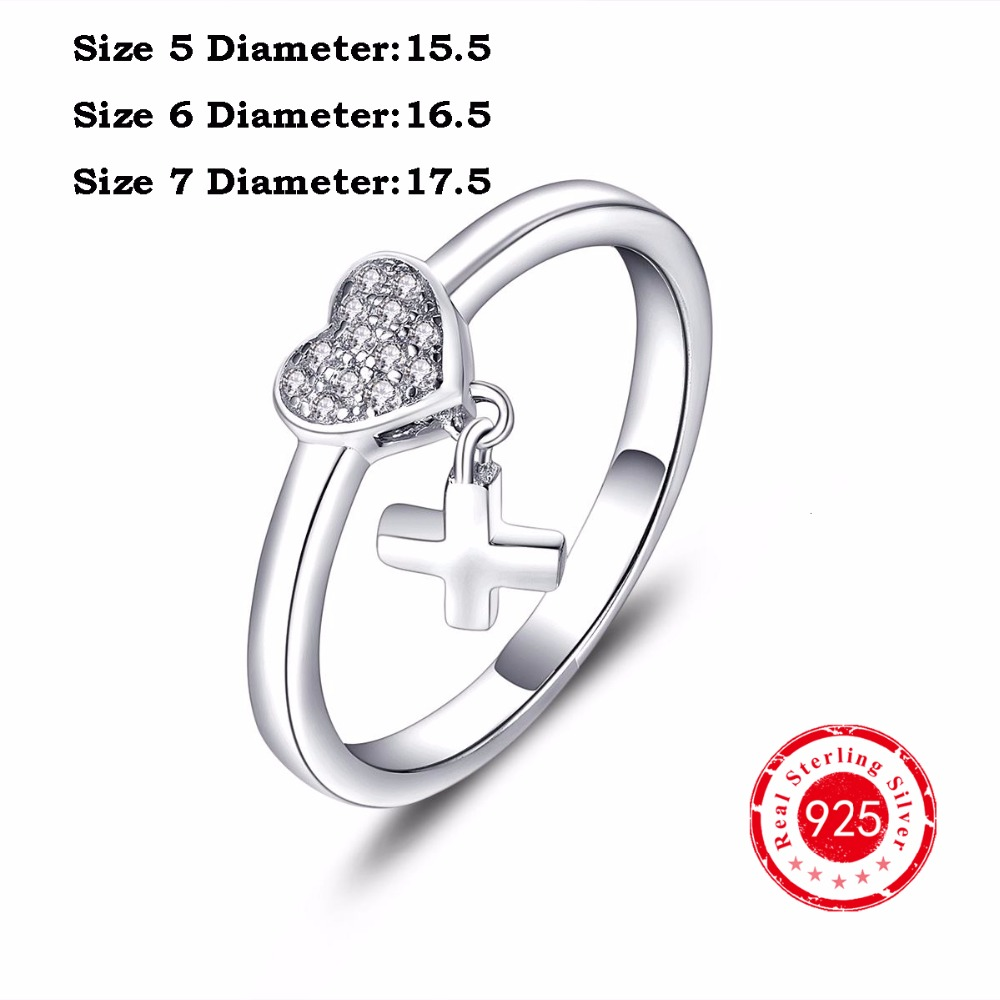 Jewelry Charms 100% 925 Sterling Silver Ring Love Heart Romantic Finger Rings for Women Travel Wedding Engagement Jewelry(China (Mainland))