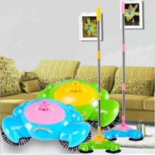 None electric manual floor cleaning machine sweeper besmirchers robot vacuum cleaner broom besmirchers with dustpan free ship 00(China (Mainland))