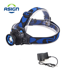 Headlamp Cree Q5 Waterproof LED Headlight High Bright Built-in Lithium Battery Rechargeable Head lamps 3 Modes Zoomable Torch(China (Mainland))