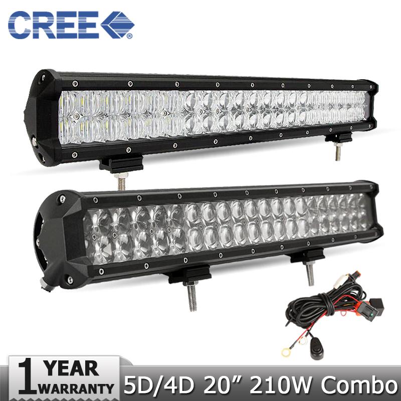 20 inch 210W CREE 5D 4D LED Light Bar 4X4 Offroad Driving Lamp DC12V 24V Truck SUV ATV UTV Wagon Boat 4WD Pickup Led Work Light(China (Mainland))