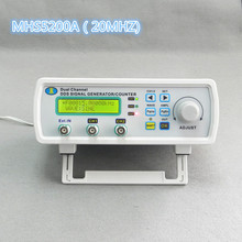 Mhs-5200a DDS NC de doble canal de onda arbitraria de señal generador, medidor de frecuencia, fuente de señal 4 salida ttl, 20 MHz