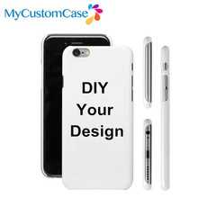 Custom Phone Case For iPhone 5s 6 6 plus 6s plus case DIY 3D Sublimation full wrap plastic phone cover, Free shipping 100pcs/lot(China (Mainland))