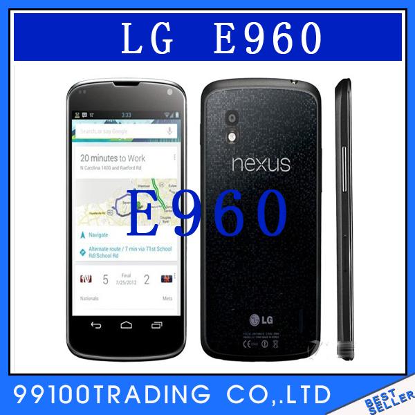 "GOOGLE E960 Unlocked LG Nexus 4 GPS Wi-Fi 8.0MP 4.7""TouchScreen 3G Android Phone Free Shipping Refurbished(China (Mainland))"
