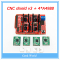 Free shipping New CNC shield V3 engraving machine 3D Printer A4988 driver expansion board