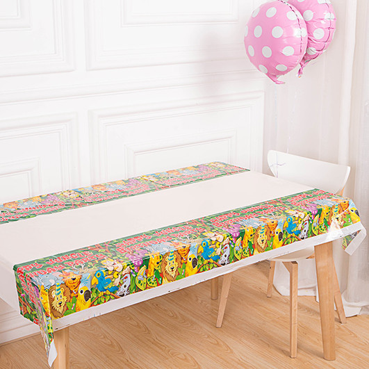 Color Birthday Party Table Cloth Disposable Waterproof Oilproof Dining Picnic Table Cover Festive Decoration for Sale(China (Mainland))