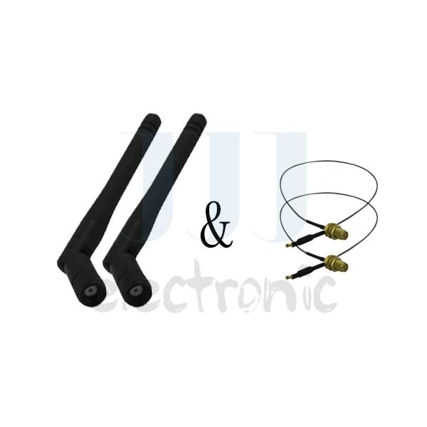 2 2dBi WiFi RP-SMA Dual Band Antennas + 2 U.fl for Netgear Wireless Router WNR2000(China (Mainland))