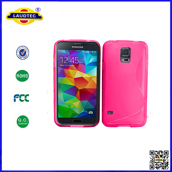 IN STOCK!!10 Hot Pink S Line Gel Tpu Case Cover Samsung Galaxy s5 --Laudtec - Shenzhen Laudtec Electronics Co., Ltd. store