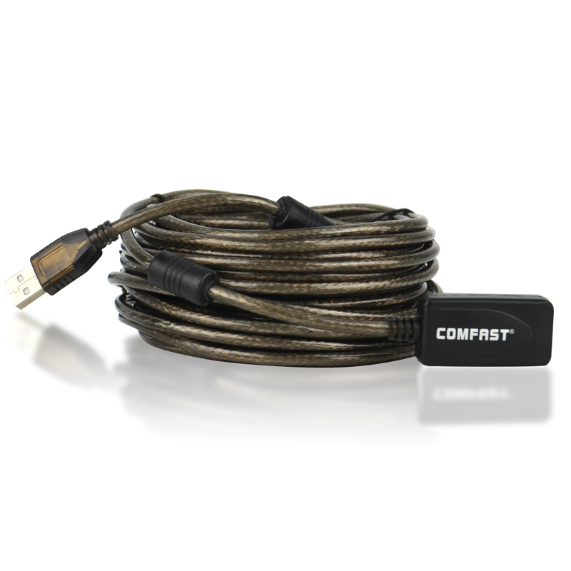 Comfast CF-U10 USB extension ling high speed 10M usb cable with usb signal power amplifier free shipping wireless usb adapter(China (Mainland))