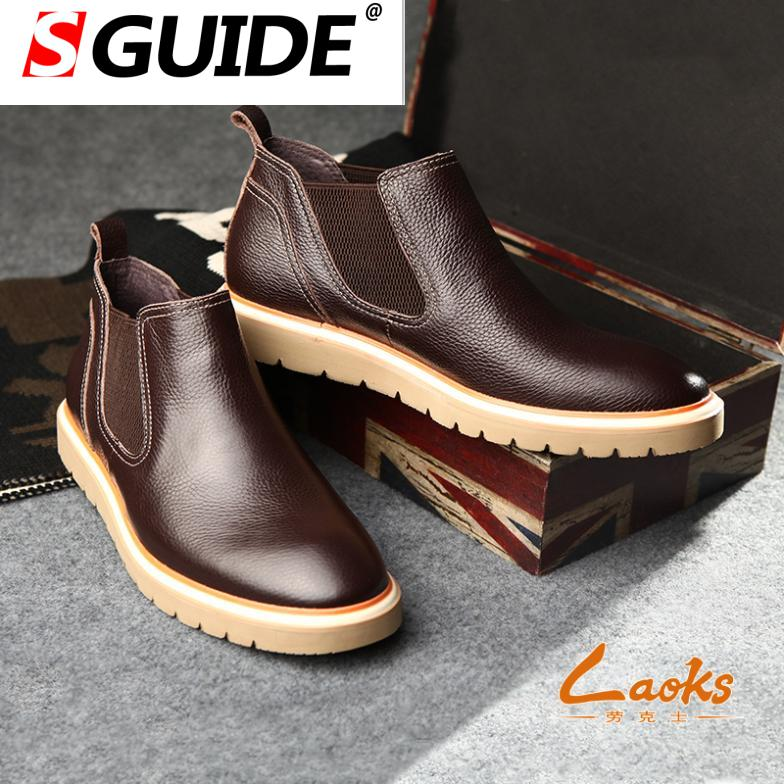 Cow genuine leather boots 100% hight quality lace up &amp; slip on mens autumn boots platforms famous brand shoes toe size 38-44<br><br>Aliexpress