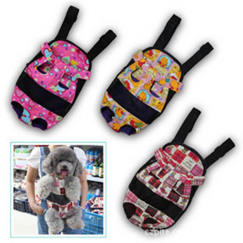 Multi-color Pet Dog Canvas Carrier Backpack Front Bag Travel Shopping Bag(China (Mainland))